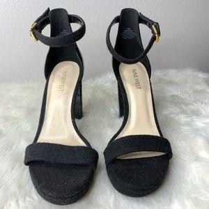 Nine West Dempsey Open Toe Heel Sandal 7.5 Black